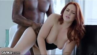 DarkX Curvy Redhead Drilled by Bosses BBC on Desk HD Porn Video