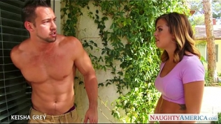 Big titted blondie Keisha Grey taking a large dick