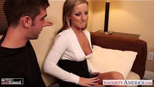 Busty blondie Melissa Mathews gets fucked