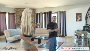 Busty blonde babe Bridgette B. take cock