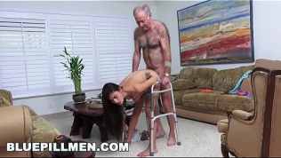 BLUE PILL MEN – Grandpa Popping Pills and Fucking Tight Latina Teen Pussy!