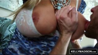 KELLY MADISON – Blue Lingerie Seduces Her Man