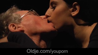 70 years old guy huge cock fucking cutie girl on blind date