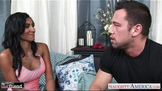 Brunette cutie Sadie Santana gets nailed
