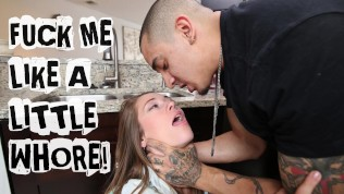 ABUSE ME – Young Teen Kirsten Lee Asks Her Boyfriend Bruno Dickemz To Fuck Her Hard