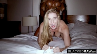 BLACKEDRAW Cheating girlfriend loves her muscular big black lover HD Porn Video