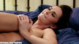 April O Neil Tribs her Pussy with Seductive MILF Free Porn Video