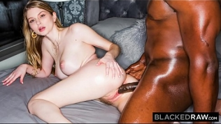 BLACKEDRAW Blonde Babe Gets Dominated By Huge BBC HD Porn Video