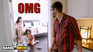 BANGBROS – Aaliyah Hadid's Hot Threesome With Dad's New GF, Misty Stone