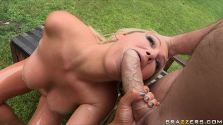 BIG OILY ASS & TIT BLONDE MILF TAKES ANAL ASS FUCK HD Porn Video