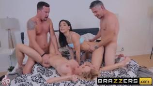 BRAZZERS – Abella Danger & Brandi Love have fun on a MOTORBUNNY HD Porn Video