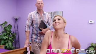 BRAZZERS – Busty blonde Athena Pleasures loves yoga and big dicks and blowjobs HD Porn Video