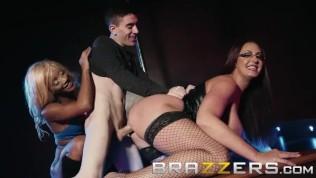 Brazzers – Busty strippers share lucky fan HD Porn Video