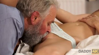 DADDY4K. Blonde celebrates birthday together with horny bearded dad HD Porn Video