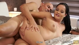 DADDY4K. Dad and young girl sex culminates with nice facial cumshot HD Porn Video
