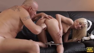 DADDY4K. Mature businessman cums in blonde's mouth to finish hot sex HD Porn Video