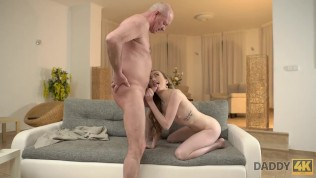 DADDY4K. Old man still able to satisfy young sluts like son's new GF HD Porn Video