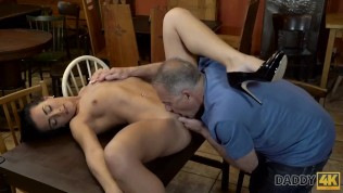 DADDY4K. Old owner of bar satisfies needs together with son's hot GF HD Porn Video