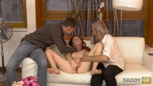 DADDY4K. Old pervert thrusts his fingers into snatch of pretty chick HD Porn Video