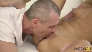 DADDY4K. Tall dad uses opportunity to make love with son's new girl HD Porn Video