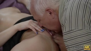 DADDY4K. Young hottie well penetrated by skillful daddy in bedroom HD Porn Video