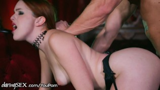 DaringSex Eager Redhead Fucked in Lingerie HD Porn Video
