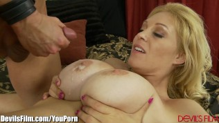 DevilsFilm Big Titty MILF Strip and Fucked