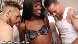 Ebony Babe Ana Foxxx – 10 Hardcore Blowjobs – Hot Bukkake HD Porn Video