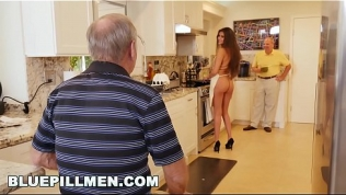 BLUE PILL MEN – Old Men Have A Cookout With Teen Stripper Jeleana Marie