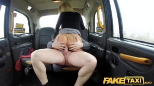 Fake Taxi Sweet blonde Milf fucked through ripped tights on back seat