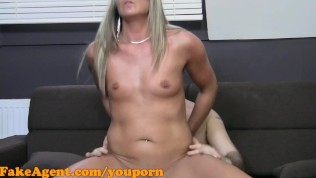 FakeAgent Horny Blonde amateur wants cock in interview