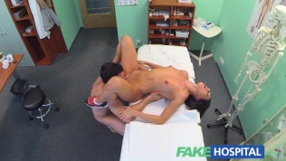 Fakehospital couple fuck in empty doctors office