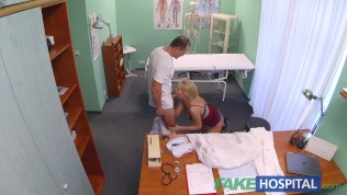 Fakehospital new nurse takes double cumshot from kinky dr
