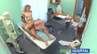 Fakehospital triple cumshot from doctor for his mistress