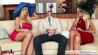 Busty blondes Nikita Von James and Summer Brielle fucking
