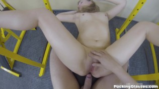 Fucking Glasses – Fucking practice in a gym HD Porn Video