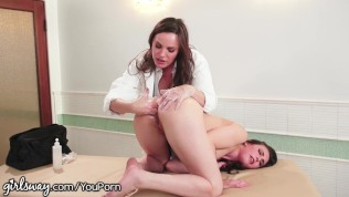 Girlsway Dr. DeArmond Gives Casey Calvert Orgasmic Rectal Exam! Free Porn Video
