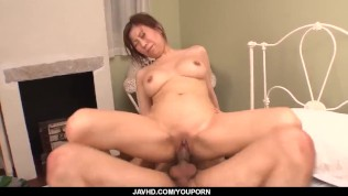 Gorgeous Chihiro Akino amazes with her slow blowjob – More at javhd.net