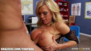 High-school principal helps her student make her GF jealous HD Porn Video