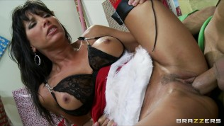 Hot big-tit brunette MILF just wants an elf's big dick for Xmas HD Porn Video