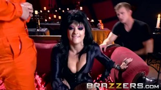 Hot Horror Hostess Gets Fucked By Big Cocks – Brazzers HD Porn Video