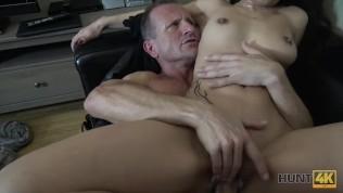 HUNT4K. Busty brunette gets her shaved cunt fucked for cash HD Porn Video