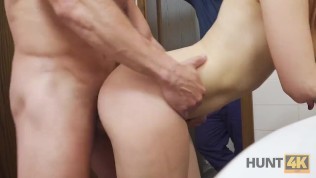 HUNT4K. I bought slutty wife in the mall and fucked in the restroom HD Porn Video