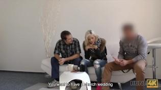 HUNT4K. Neighbor guy becomes cuckold when sells his girlfriend HD Porn Video