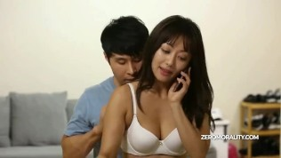Innocent Korean girl undressed and fucked while tries to do a phone calls HD Porn Video