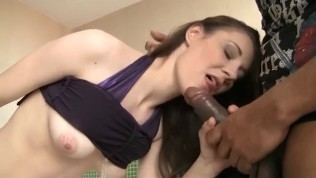 Interracial Hotel Foursome Fuck with Euro Teens