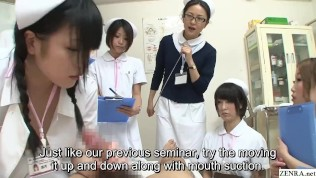 JAV nurses CFNM handjob blowjob demonstration Subtitled