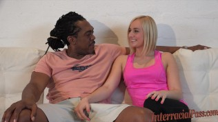 Kate takes biggest black cock up her ass!
