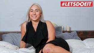 LETSDOEIT – Blonde French Slut tries to enter Porn World