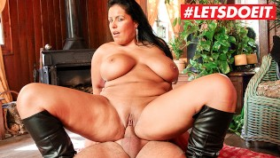 LETSDOEIT – Busty French MILF Gets Her Huge Tits Covered in Cum